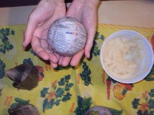 делаем шары папье-маше