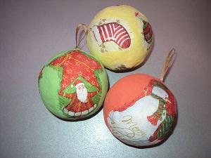 декупажные новогодние шары