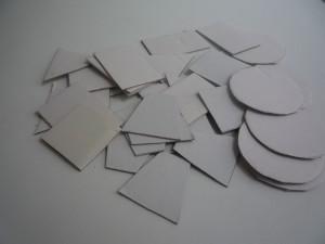 геометрические фигуры из картона