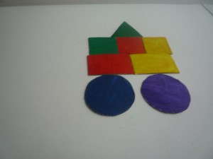 выкладываем картинки из геометрических фигур