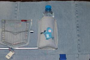 пришиваем боковой карман для детского рюкзака