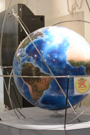 глобус в музее космонавтики