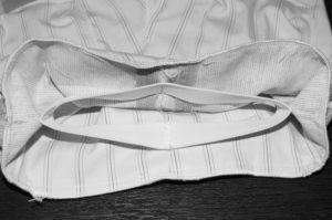 пришиваем пояс к штанам