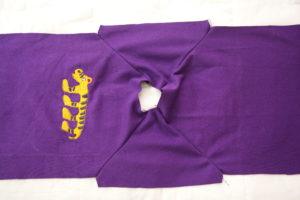 втачиваем рукава реглан в детскую футболку