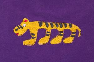 вышивка забавного тигра
