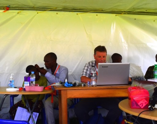 Rwanda telemedicine ear camp
