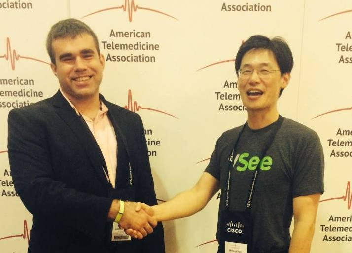 Fruit Street CEO, Laurence Girard with VSee CEO, Milton Chen at the ATA Conference