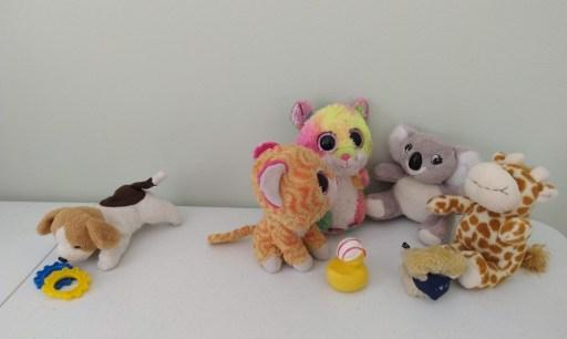 autism stuffed dog and animal group