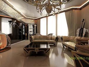 Стиль Арт-деко в интерьере гостиной-2