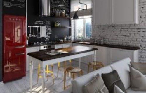 Стиль Фьюжн в интерьере кухни-2