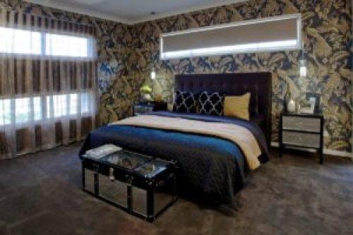 Стиль Фьюжн в интерьере спальной-1