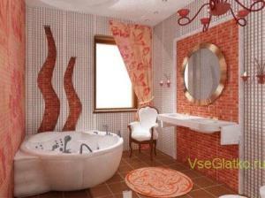 Стиль Китч в интерьере ванной-1