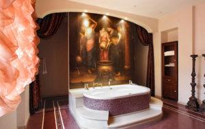 Индийский стиль в интерьере ванной-2