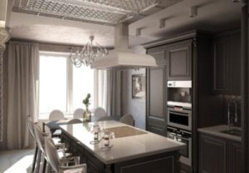 Стиль Ампир в интерьере кухни-1