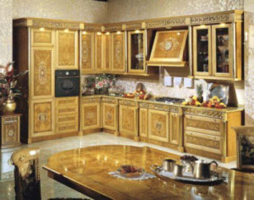 Стиль Ампир в интерьере кухни-2