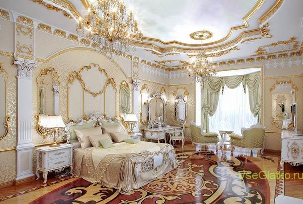 Стиль Ампир в интерьере спальной-1