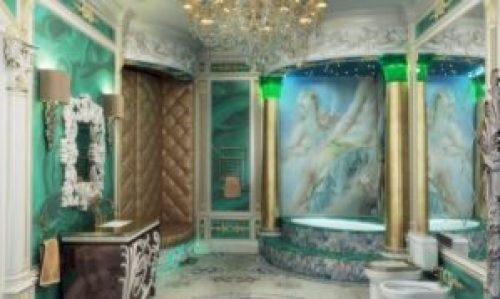 Стиль Барокко в интерьере ванной-1