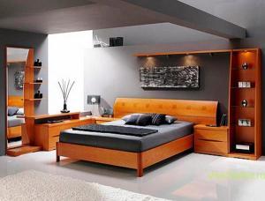 Стиль Хай-тек в интерьере спальной-2