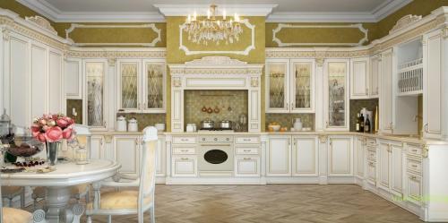 Классический стиль в интерьере кухни-2