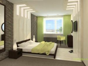 Стиль Минимализм в интерьере спальной-1