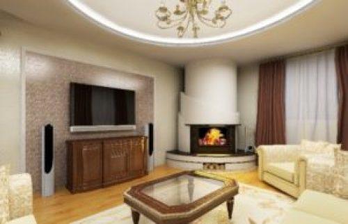 Стиль Модерн в интерьере гостиной-2