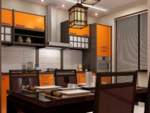 Японский стиль в интерьере кухни-1