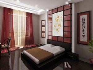 Японский стиль в интерьере спальной-1