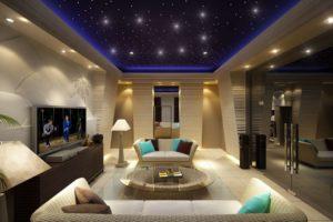 Египетский стиль в интерьере гостиной-1