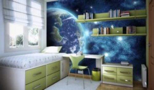 Молодежный стиль в интерьере детской комнаты-3
