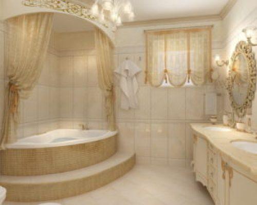 Стиль Прованс в интерьере ванной-2