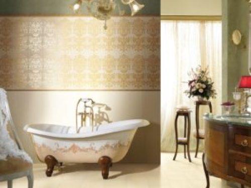 Стиль Рококо в интерьере ванной-1