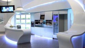 Космический стиль в интерьере кухни-2