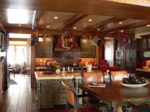 Охотничий стиль в интерьере кухни-2