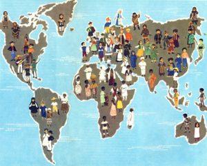 Этнические стили, расположение проживания народов в мире