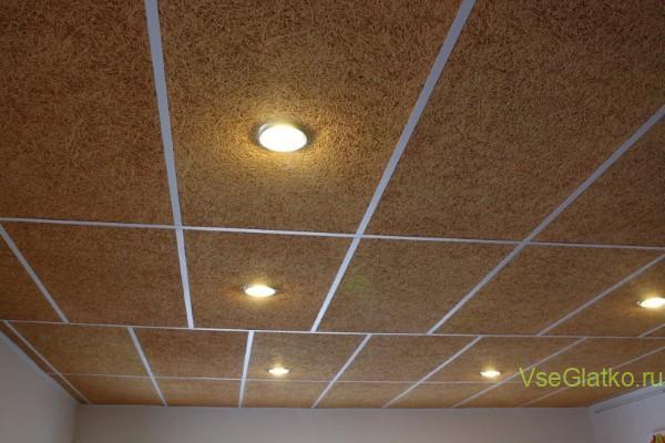 Фибролит на потолок-фото