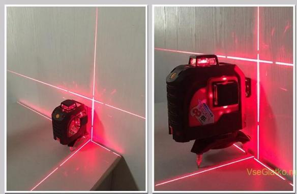 Нивелир лазерный с красным лучем