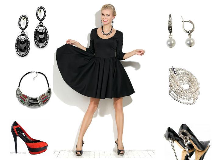 c387232d93 Ako dennú bižutériu na čierne šaty si môžete vyzdvihnúť náušnice a korálky