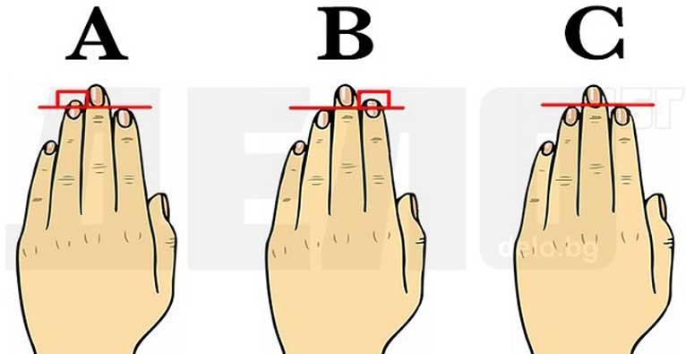 Дължината на пръстите