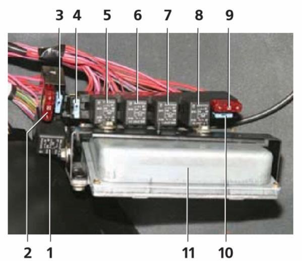 Foto de um bloco adicional com fusíveis em Chevrolet NIVA