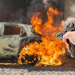 Можно ли пулей взорвать бензобак машины