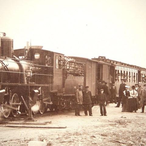 Первый пассажирский поезд на Вятке