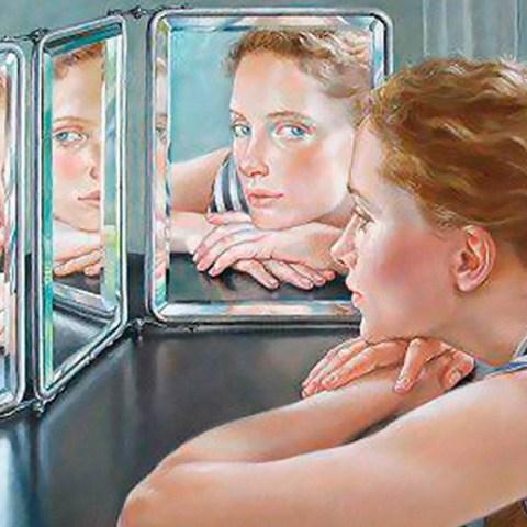 Почему в зеркале лево и право меняется местами, а верх и низ - нет