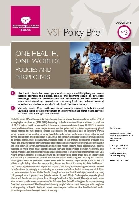 Policy Brief One Health One World Vétérinaires Sans Frontières