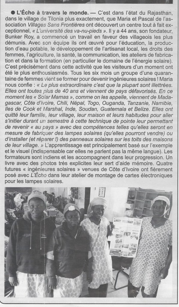 Echo Béarnais avril 2018