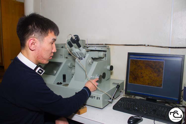 Аппаратура, позволяющая многократно увеличить, более чем в 50 раз, а затем увидеть микроструктуру металла и определить изменил ли он свое свойство
