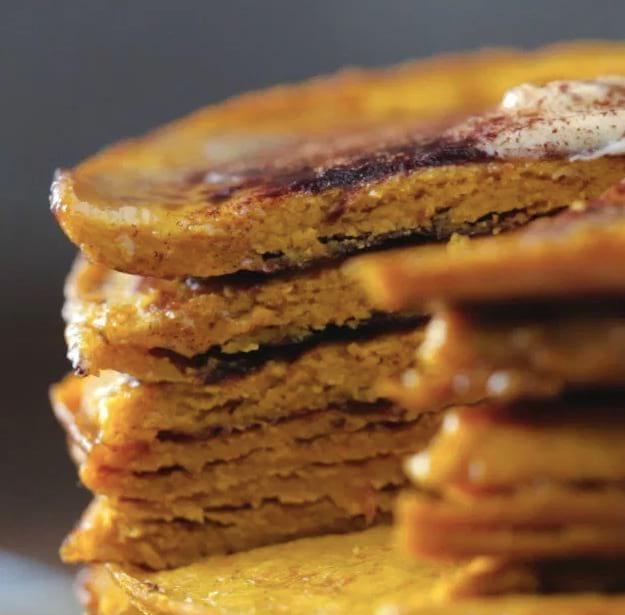 Slicked Pumpkin Pancake | Pumpkin Spice Protein Pancakes