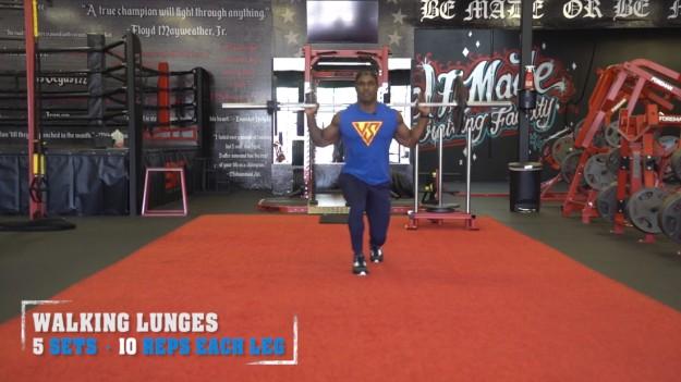 Walking Lunges   V Shred's Ultimate Full Leg Workout
