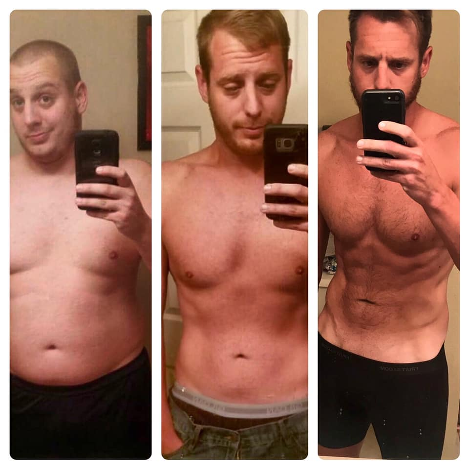 Dylan's V Shred weight-loss transformation before, during, after photo