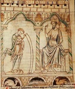 """Ілюстрація до """"Історії королів Британії"""" Гальфріда Монмутського"""