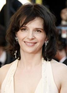 Juliette Binoche wearing Cartier Jewelry